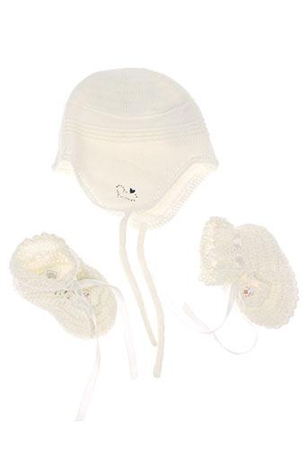 absorba chapeaux et bonnets fille de couleur blanc