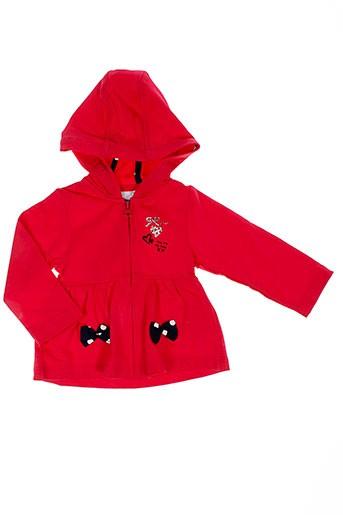 3 et pommes vestes fille de couleur rouge (photo)