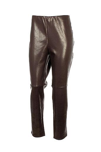 vera et mont pantalons et decontractes femme de couleur marron