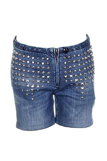 lerock shorts / bermudas femme de couleur bleu