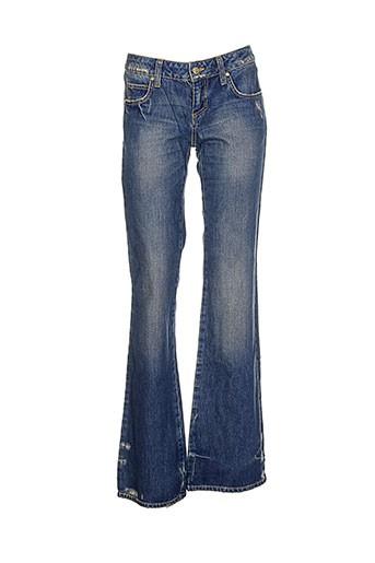 Jeans coupe large bleu FRANKIE MORELLO pour femme