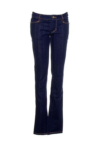 Jeans coupe slim bleu FRANKIE MORELLO pour femme