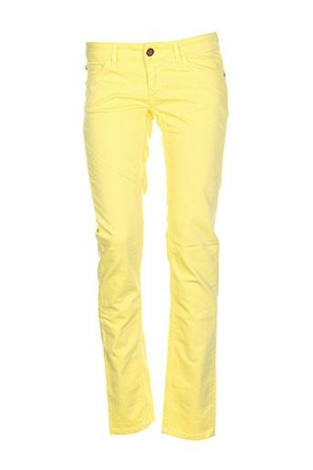 Pantalon casual jaune FRANKIE MORELLO pour femme