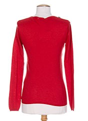 Pull col V rouge WHO'S WHO pour femme seconde vue