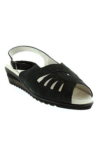 boissy sandales et nu et pieds femme de couleur noir