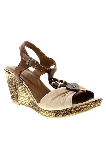 metamorf et ose sandales et nu et pieds femme de couleur marron