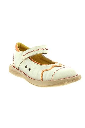 tekilou chaussures fille de couleur blanc