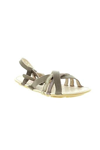 buggy sandales et nu et pieds fille de couleur marron