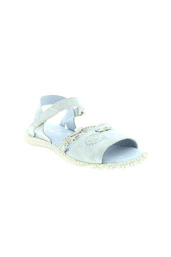 chipie sandales et nu et pieds fille de couleur bleu