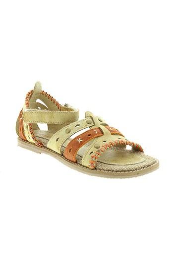 peche et d et amour sandales et nu et pieds fille de couleur orange
