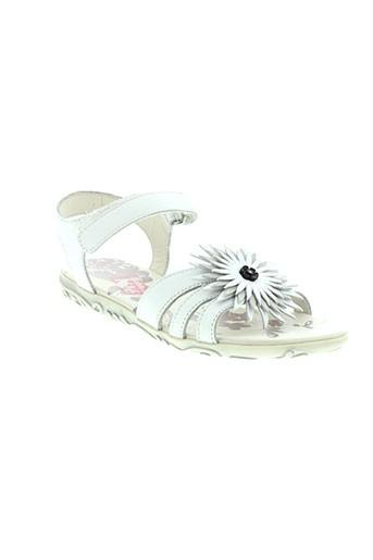 pablo et lele sandales et nu et pieds fille de couleur blanc