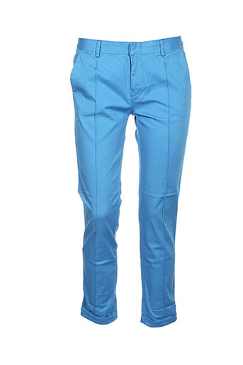 charlie joe pantalons femme de couleur bleu