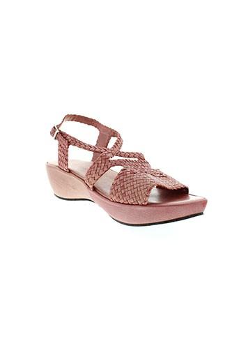 exit sandales et nu et pieds femme de couleur rouge