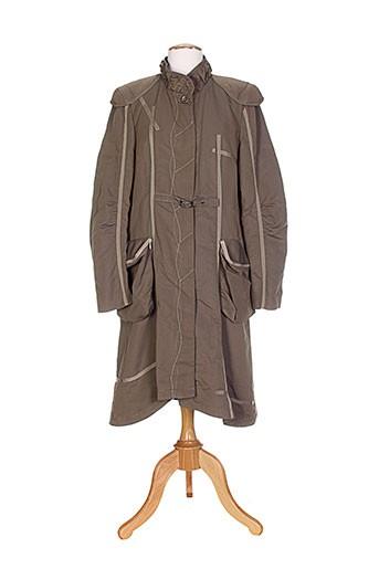 o.k.s manteaux femme de couleur marron