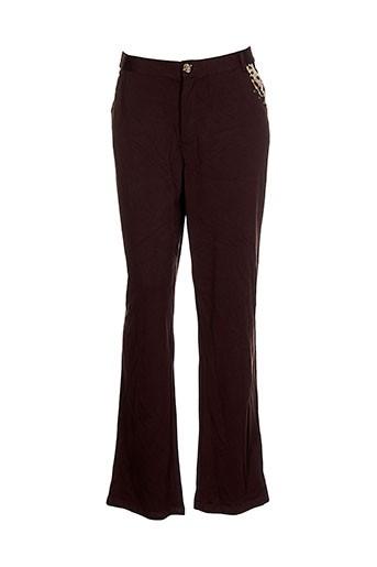 be the queen pantalons femme de couleur marron