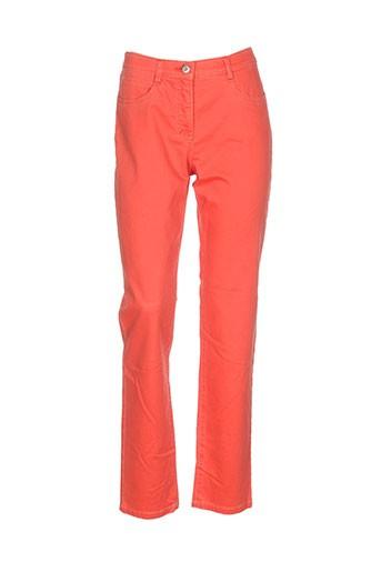 club of comfort pantalons femme de couleur orange