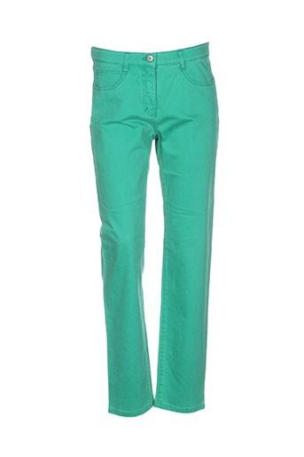 club et of et comfort pantalons et decontractes femme de couleur vert
