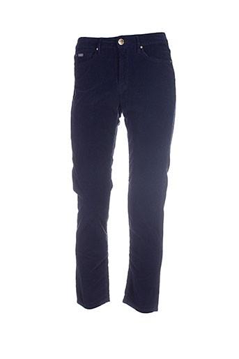 islow pantalons femme de couleur bleu