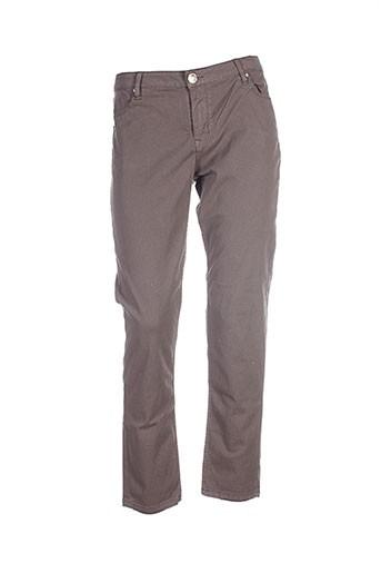 Pantalon casual marron ISLOW pour femme