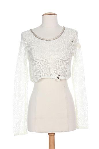 caty lesca chemises femme de couleur blanc