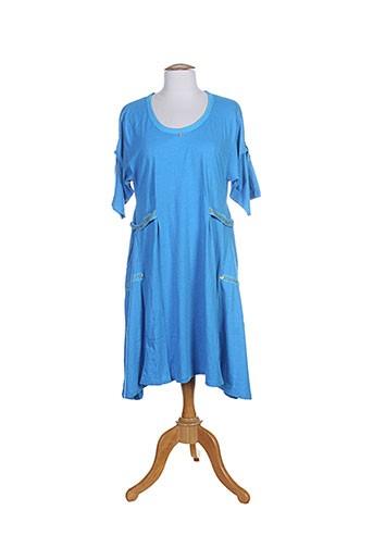 caty lesca tuniques femme de couleur bleu