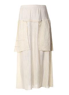 Jupe longue blanc CATY LESCA pour femme