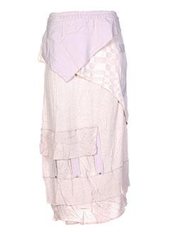 Jupe longue beige CATY LESCA pour femme