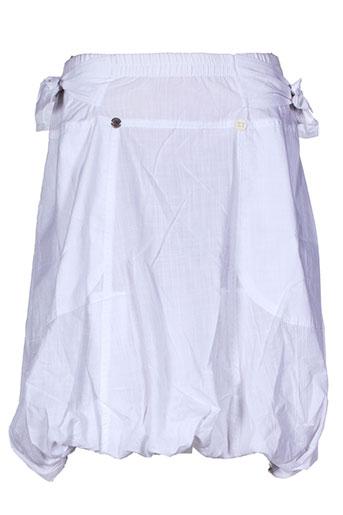 Jupe courte blanc CATY LESCA pour femme