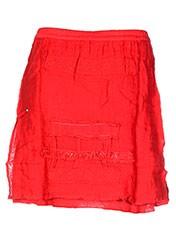 Jupe courte rouge CATY LESCA pour femme seconde vue