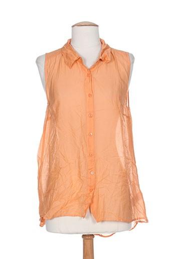 kaffe chemises femme de couleur orange
