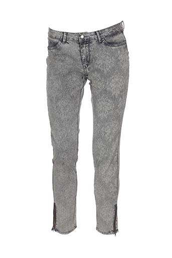 kaffe pantalons femme de couleur gris