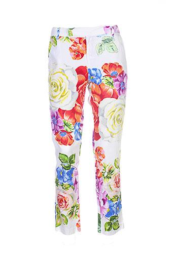 derhy pantalons femme de couleur blanc