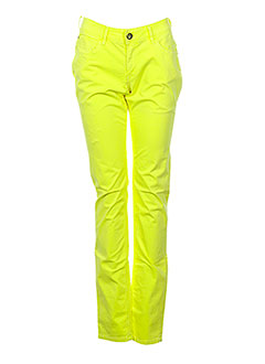Pantalon casual jaune TEDDY SMITH pour fille