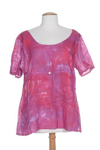 caty lesca chemises femme de couleur rose