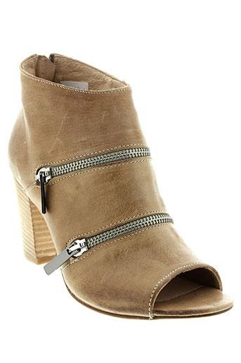 rose et noire boots femme de couleur beige