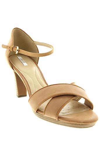 geox sandales et nu et pieds femme de couleur beige