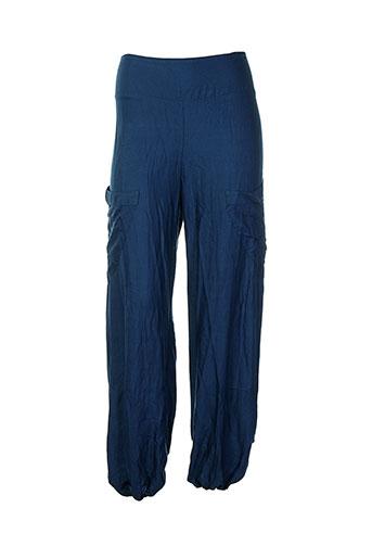 aller simplement pantalons femme de couleur bleu