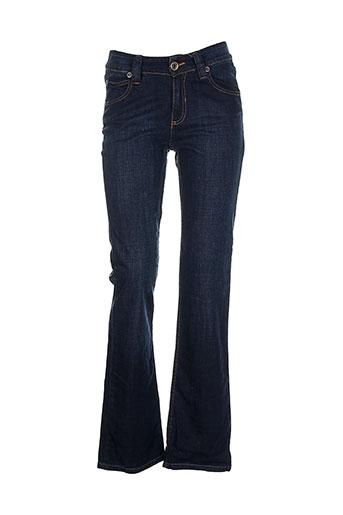 la cible rouge jeans femme de couleur bleu