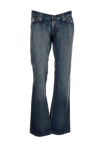 mac laury jeans femme de couleur bleu