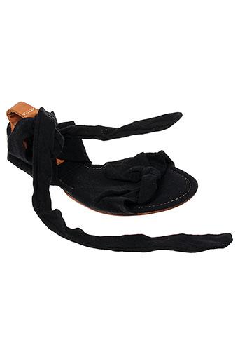pleat chaussures femme de couleur noir