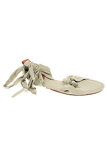 pleat chaussures femme de couleur beige