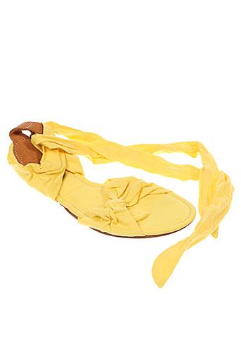 pleat chaussures femme de couleur jaune