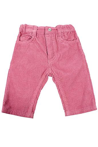 petit et bateau pantalons et decontractes fille de couleur rose
