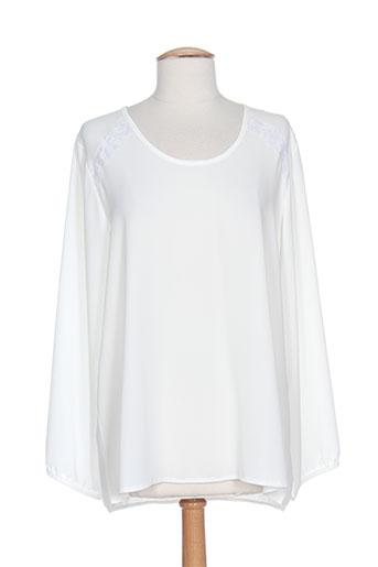vie nocturne chemises femme de couleur blanc