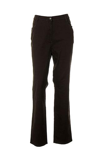 pioneer pantalons femme de couleur marron