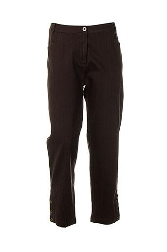 bleu salé pantalons femme de couleur marron