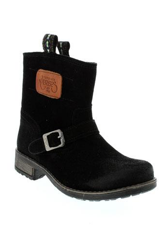 le et temps et des et cerises boots fille de couleur noir