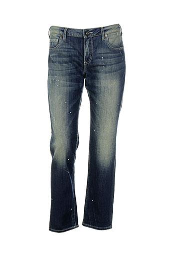 guess jeans femme de couleur bleu