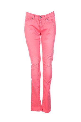 pepe jeans pantalons fille de couleur rose