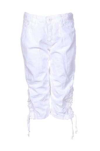 cerise little pantacourts fille de couleur blanc
